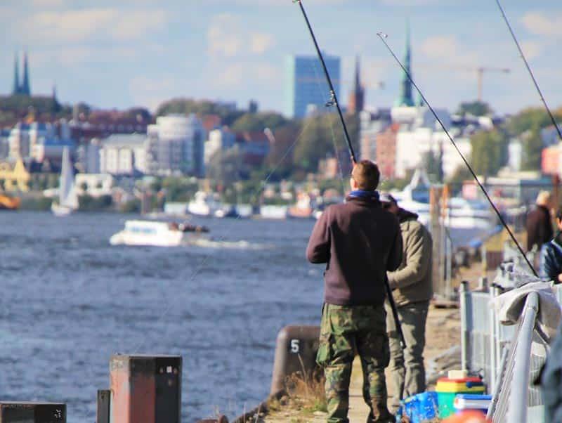 Angelschein Hamburg angeln Ufer