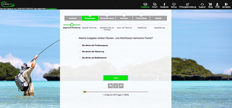 Fishing King Online Kurs Fragen