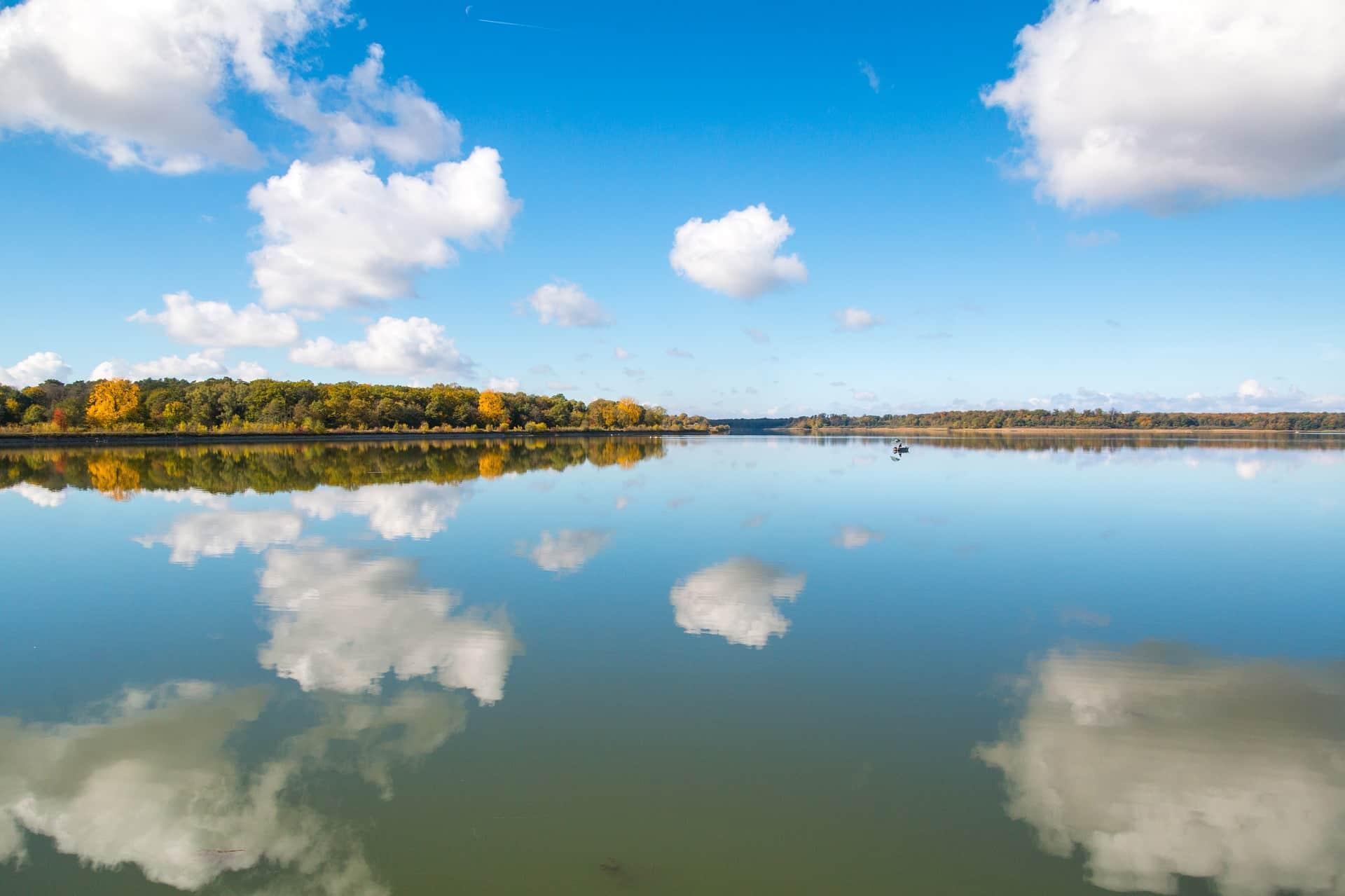 Angelschein Tübingen - Mirroring an einem See